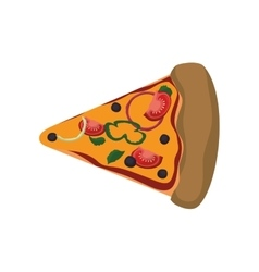 Pizza food menu fast dinner icon graphic vector