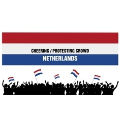 Cheering or protesting crowd netherlands vector