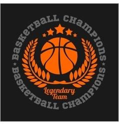 Basketball championship logo set and design vector image