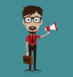 Trendy flat style cartoon man vector