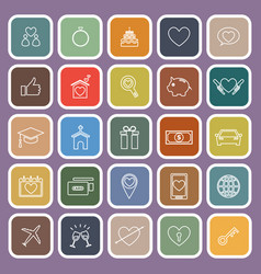 Family flat icons on purple background vector