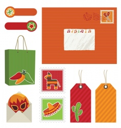 Mexican postage vector image