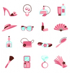 Women objects icon vector