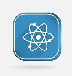 Atom molecule color square icon vector