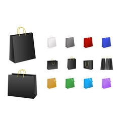 Shopping bags collection vector
