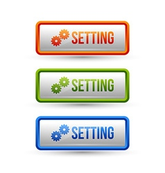 Glossy setting buttons vector