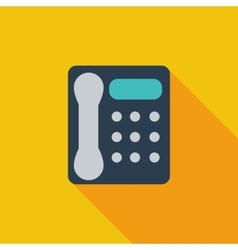 Office phone icon vector