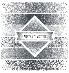 Halftone background with dots dotwork engraving vector