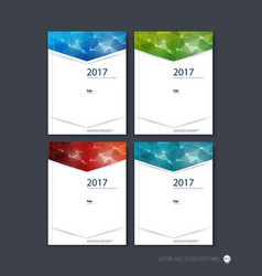 Set of brochure template layout cover design vector image