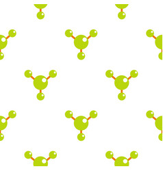 Abstract green molecules pattern flat vector