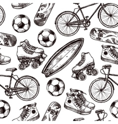 Active recreation seamless pattern vector