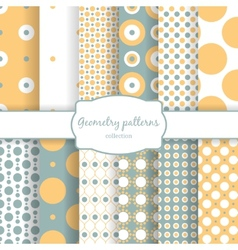 Autumn seamless patterns vector image