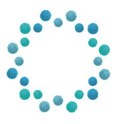 Baby boy blue birthday party pom poms vector