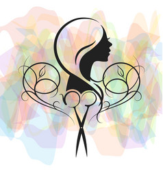 Beauty salon for women symbol vector