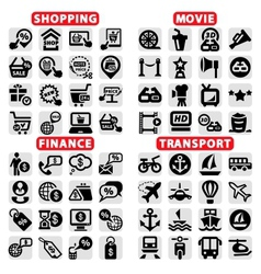 big web icon set vector image vector image