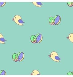 Bird easter eggs seamless background vector