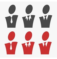 Business avatar set vector