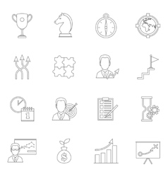 Business strategy planning icon outline vector image