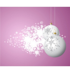 christmas bulbs vector image vector image