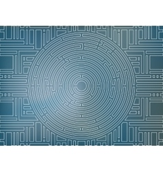 Circular labyrinth background white and blue vector image
