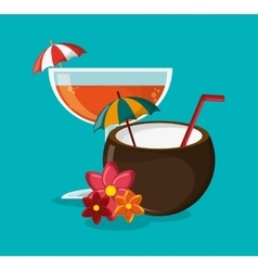Cocktail of summer and vacation design vector