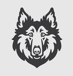 Collie Rough Head Logo Mascot Emblem vector image vector image
