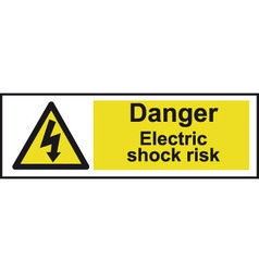 Danger electric shock risk safety sign vector