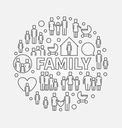 family minimal round vector image vector image