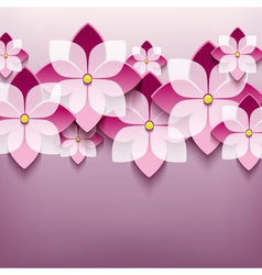 Floral trendy background with 3d flower sakura vector image