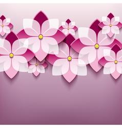 Floral trendy background with 3d flower sakura vector