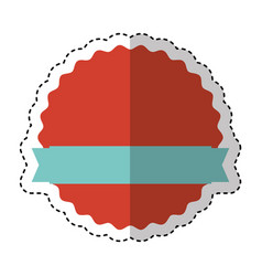frame seal with ribbon isolated icon vector image vector image