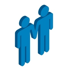 Gay couple holding hands isometric 3d icon vector image