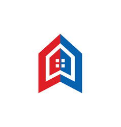 House icon building logo vector