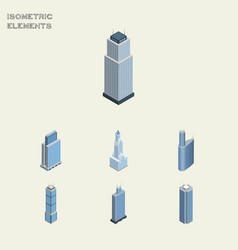 Isometric skyscraper set of tower urban vector
