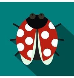 Ladybug icon flat style vector image vector image