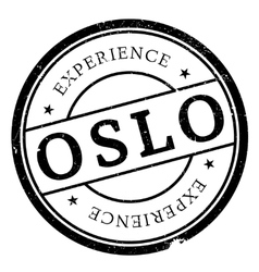 Oslo stamp rubber grunge vector image vector image