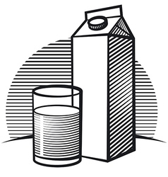 package of milk vector image vector image