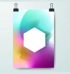 poster minimal design template business vector image vector image