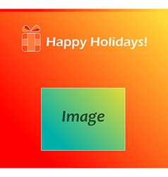 Red present Card for Happy Holidays vector image
