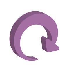 reload arrow icon vector image vector image