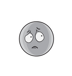 Sad cartoon face expression people emoticon emoji vector