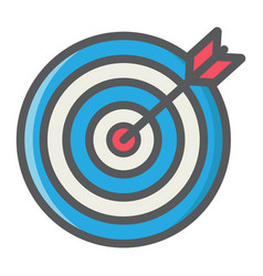 Target colorful line icon business and dartboard vector