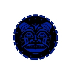 Tiger face indigenous pattern style vector