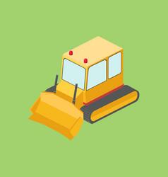 tractor bulldozer isometric vector image vector image