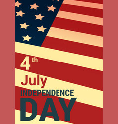united states independence day holiday 4 july vector image vector image