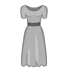 Womens fancy dress icon black monochrome style vector