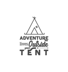 Camping logo with typography saying and travel vector