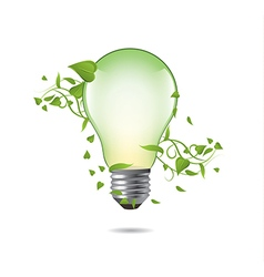Green ecology bulb vector