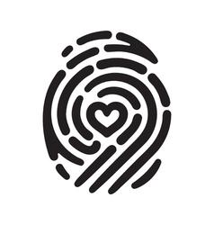 heart fingerprint 01 vector image