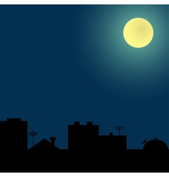 Background with silhouettes of roofs vector